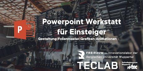 PowerPoint Werkstatt für Fortgeschrittene Tickets