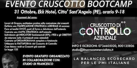 BOOTCAMP CRUSCOTTO DI CONTROLLO, Pescara, 31 ottobre biglietti