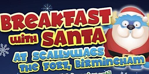 kids breakfast, visit Santa and soft play