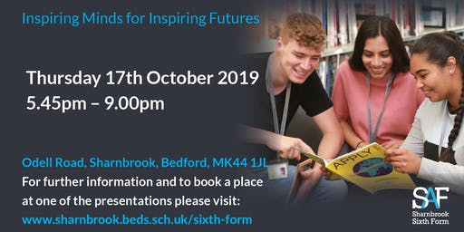SAF Sharnbrook Academy  Sixth Form Open Evening