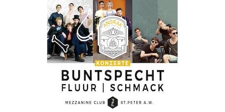 Anorak Festival mit Buntspecht, Fluur & Schmack Tickets