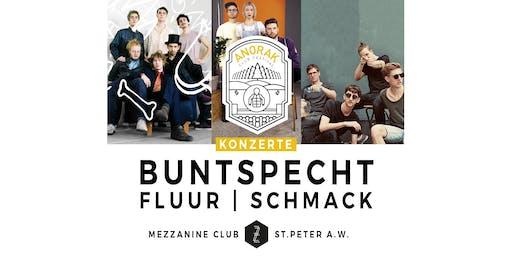 Anorak Festival mit Buntspecht, Fluur & Schmack