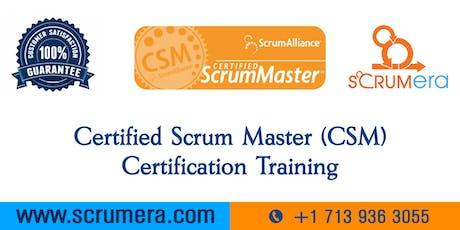 Scrum Master Certification | CSM Training | CSM Certification Workshop | Certified Scrum Master (CSM) Training in Escondido, CA | ScrumERA tickets