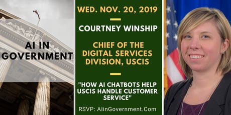AI in Government - Courtney Winship , USCIS tickets