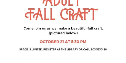 Adult Fall Craft