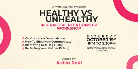 Healthy Relationship Interactive  Workshop tickets