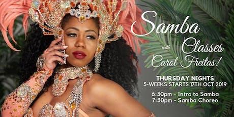 Learn to  SAMBA  with CAROL FREITAS! tickets