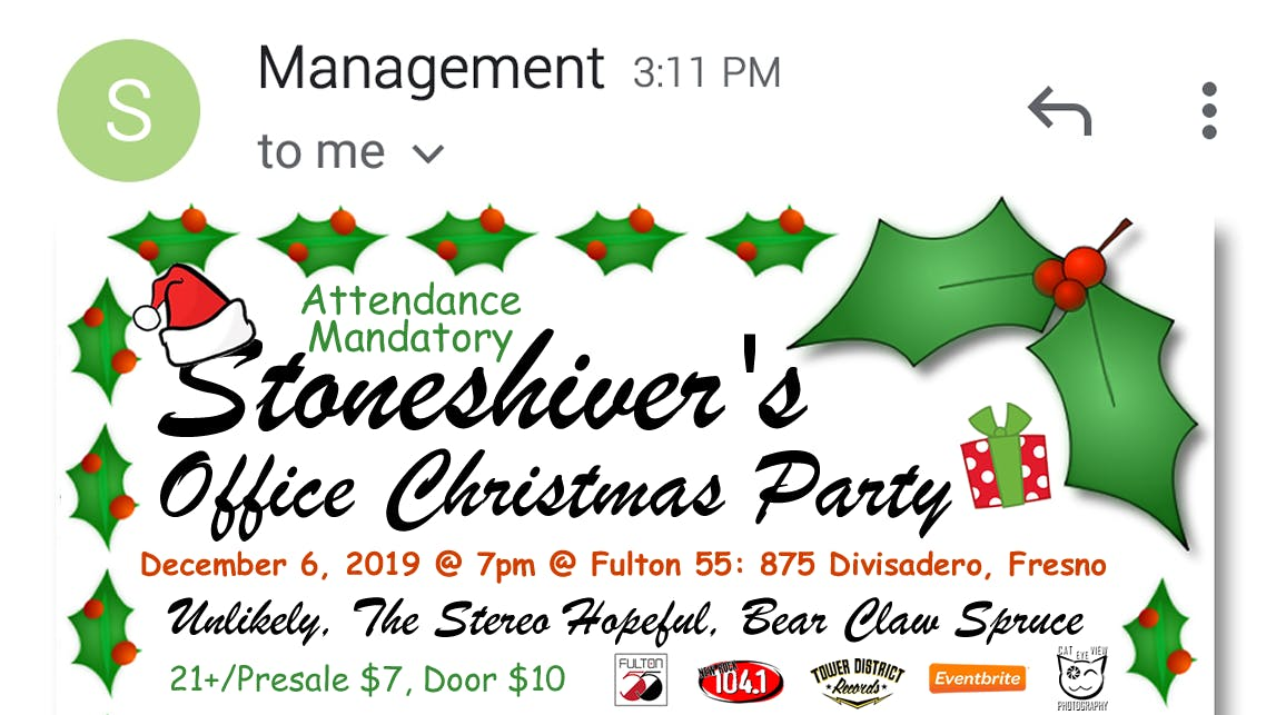 Christmas Party 2019 Clipart.Stoneshiver S Office Christmas Party Tickets Fulton 55