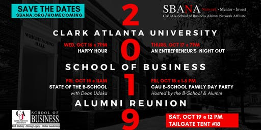 CAU School of Business Alumni Reunion Homecoming  Week 2019