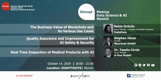 GBW 2019 | AI in Blockchain, Quality Assurance, and Medical Industry