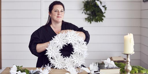 Christmas Paper Wreath Workshop by ZOE BRADLEY