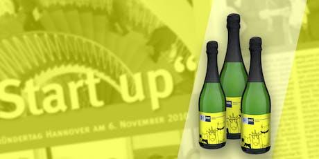 Gründerungs-Pulle abstauben auf dem IHK Gründungstag bei der Werbeagentur MIU24® Tickets