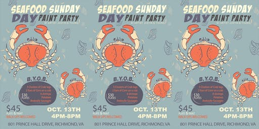 Seafood Sunday Day Paint Party