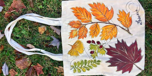 Autumnal Tote PaintNSip by Lola Bishop