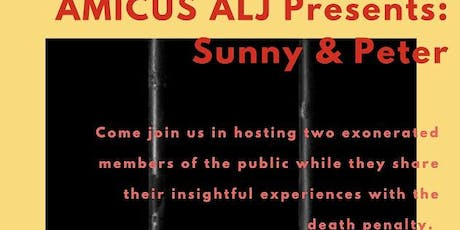 Exonerated from Death Row - an audience with Sunny Jacobs and Peter Pringle tickets