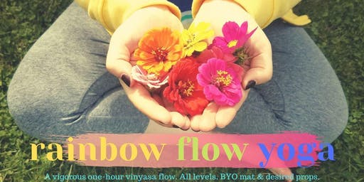 Rainbow Flow Yoga at Wunderbar (October)