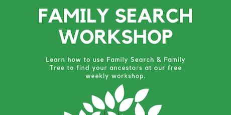 Family Search Workshop billets