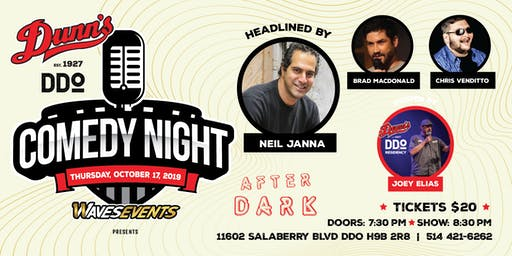 Comedy Night at Dunn's DDO Headlined by Neil Janna