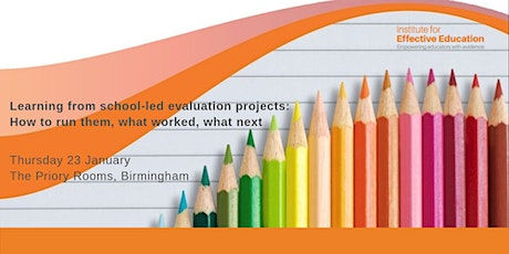 Learning from school-led evaluation projects tickets