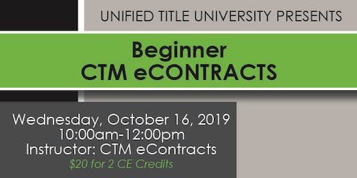 Colorado Springs - Beginner CTM eContracts Class