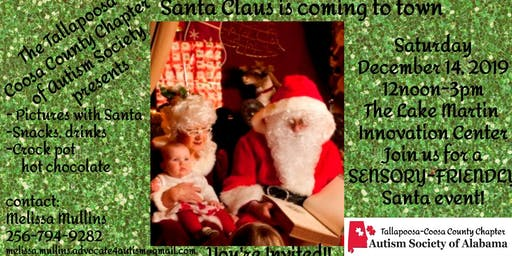 Sensory Santa presented by Autism Society of Alabama