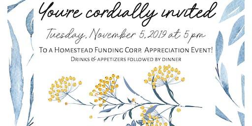 Homestead Funding Corp. Appreciation Dinner