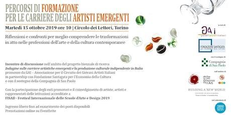 FISAD - 'Percorsi di formazione per le carriere degli artisti emergenti' biglietti