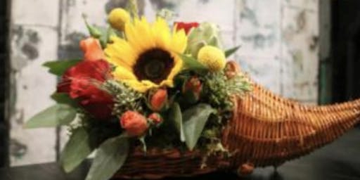 Thanksgiving Arrangements at the Tin Bucket with Alice's Table