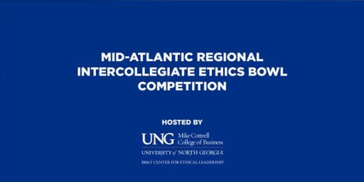 2019 Regional Intercollegiate Ethics Bowl Competition - 2nd Team Registration