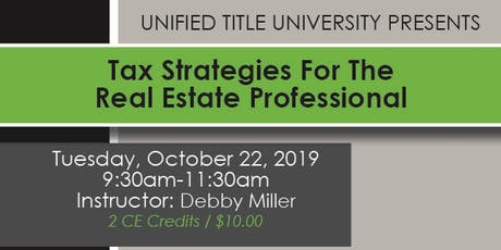 Colorado Springs - Tax Strategies For The Real Estate Professional tickets