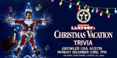National Lampoon's Christmas Vacation Trivia at Growler USA Austin tickets