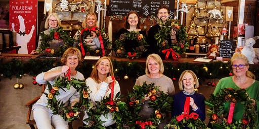 Wreath making at the Ice Rink Tunbridge Wells