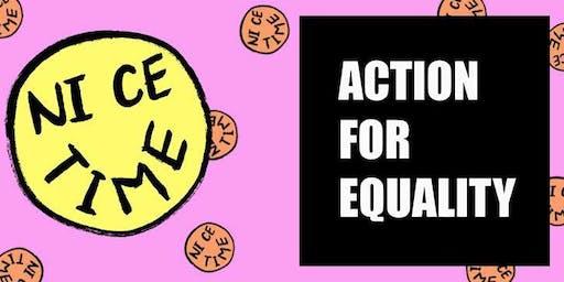 Nice Time x Action For Equality pocket making workshop