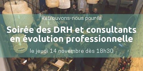 Soirée des DRH et consultants en évolution professionnelle billets