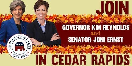 Iowa GOP reception with Governor Reynolds and Senator Ernst tickets