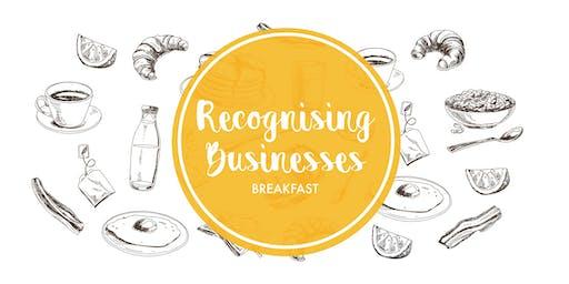 Recognising Businesses Breakfast November 15th 2019