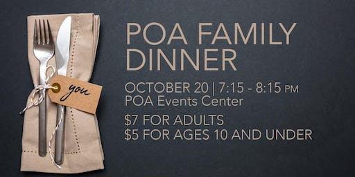 October 20 - POA Family Dinner