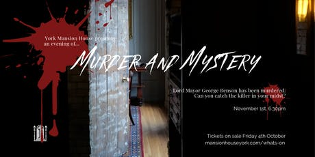 Murder and Mystery tickets
