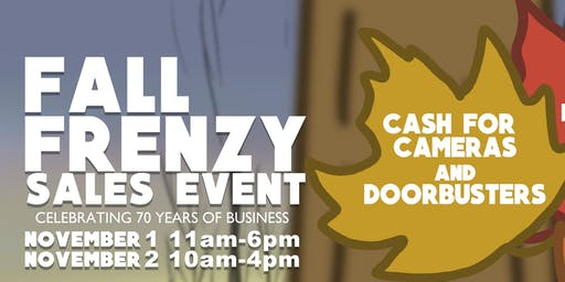 Fall Frenzy Sales Event @ YM Camera