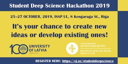 Student Deep Science Hackathon 2019