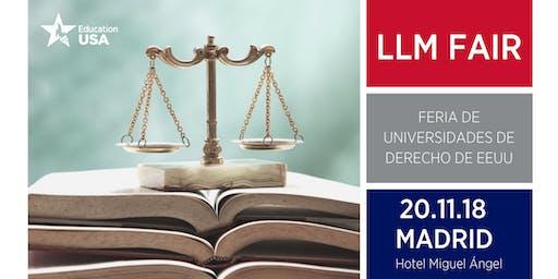 LL.M. Tour Madrid 2019: Feria de Postgrado en Derecho en Estados Unidos