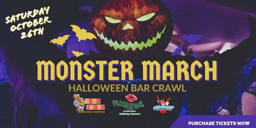 Monster March Halloween Bar Crawl