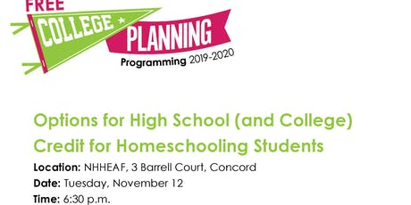 Options for High School (and College) Credit for Homeschoolers tickets