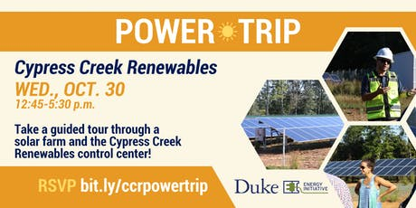 DUEI Power Trip: Cypress Creek Renewables, Oct. 30 tickets