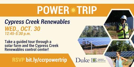 DUEI Power Trip: Cypress Creek Renewables, Oct. 30