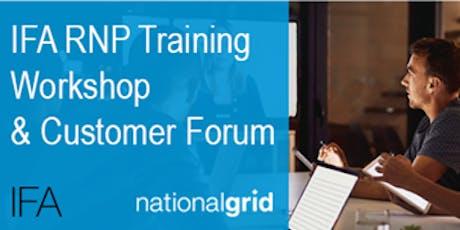 IFA RNP Training Workshop and Customer Forum tickets