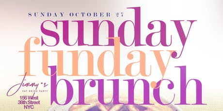 Sunday Funday, 2hr Open Bar Brunch + Day Party, Bdays Free Champagne Bottle tickets