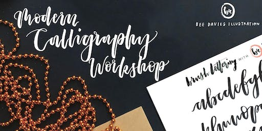 Modern Calligraphy Workshop with Bee Davies Illustration