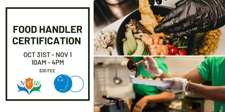 Food Handler Certification - Toronto, ON Oct 31 - Nov 1 tickets
