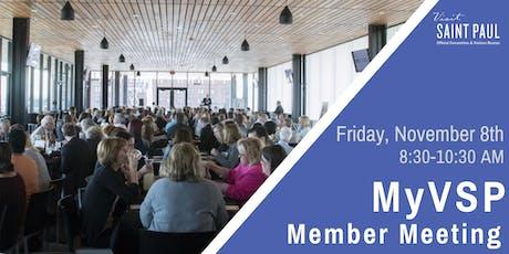 MyVSP: November Member Meeting tickets